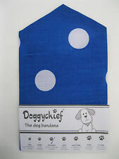 Blue with white SPOTS Dog Bandana by Doggychief -  More designs - All sizes