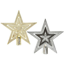 Shiny Embossed Star Christmas Tree Topper Decoration