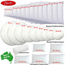 EASYREST Made In Australian Cushion Inserts Premium Polyester Filled - 27 sizes