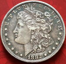 1882-S Silver Morgan Dollar Coin. Nice Toning