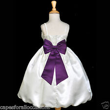 IVORY WEDDING SUMMER FLOWER GIRL DRESS BRIDESMAID 2 2T 3 3T 4 4T 5 5T 6 6X 8 10
