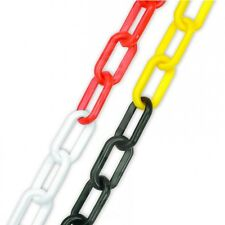 Plastic Chain - Red and White / Black and Yellow - Health & Safety Barrier fence