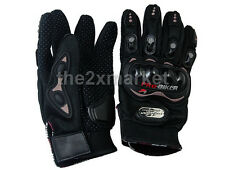 3 Sizes L XL XXL Black Motorcycle Leather Gloves For Racing Knight Motocross