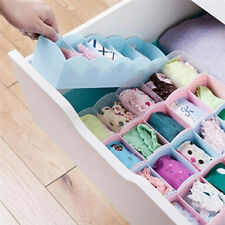 5 Grid Organizer Tie Bra Socks Drawer Cosmetic Divider Plastic Storage Box X