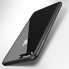 Glossy Clear Hard Plastic Bumper Shockproof Thin Case Cover for iPhone 7 7 Plus