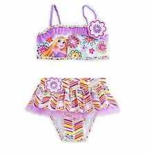 NWT Disney Store Princess Rapunzel Tangled Deluxe Swimsuit Girls 5/6 7/8