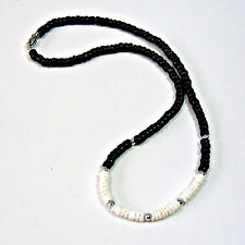 Surfer SUP Hawaiian Style Necklace Puka Shell Black Coconut Beads 18 21 24 inch