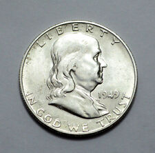 1949-S Key Date Franklin Half Dollar COIN 90% silver  50c , NO RESERVE!