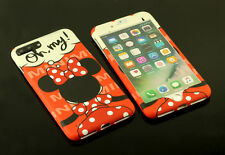 Disney Minnie Mouse Front + Back case cover Defender for Apple iPhone 7 / Plus