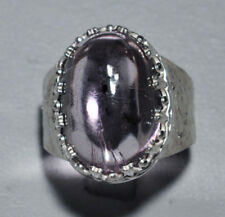 Kunzite Cabochon Handcrafted Sterling Silver Gemstone Ring