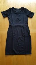 Women Ladies Celebrity Netted Black Midi Dress Office Christmas Party Size 12 14