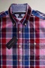 Tommy Hilfiger Short Sleeve Custom Fit  Men's Casual Shirt Retail: $49.99