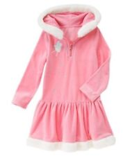 GYMBOREE Girls Dress FAIRY WISHES Size 9 Velour Hooded Long Sleeve Winter NEW