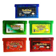 Pocket Monster Fire Red Leaf Green Sapphire Pokemon Gameboy Cartridge Game Cards