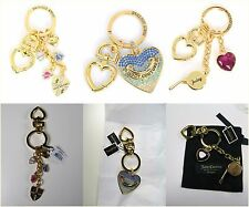 Juicy Couture Key Ring Key Chain Purse Charm Key Fob Several Styles NWT