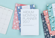"""Monthly Planner 2017 (Dated) Diary Planner Organizer 12 Monthly Plans 5.1 x 7.5"""""""