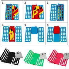 Laundry Folder Clothes T-Shirts Pants Towels Organizer Fast Easy and Saver Time