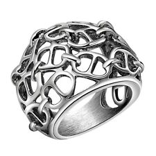 Men's Vintage Hallow 316L Stainless Steel Finger Ring Jewelry Fashion Style Gift