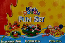 New Kids Dough Play Set Flower Fun Pizza Fun Snack Bar Fun  Xmas Gift Fun Toy
