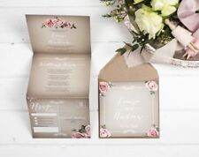 Wedding Invitation Booklet Sample (Vintage Grey)
