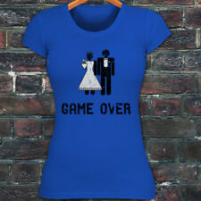 Game Over Marriage Funny Meme Humor Womens Blue T-Shirt