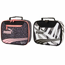 NWT PUMA Archeprint School Cool Lunch Tote Box Insulated Snack Bag in Pink/Black