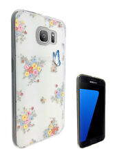 C1297 Floral Vintage Shabby Case Cover For Samsung Galaxy J3 J5 A3 A5 S6 S7 Edge