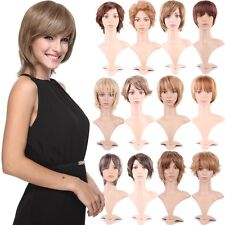 Unisex 30 Great Short Hairstyle Full Wig Hair Bob Straight Wavy Shaggy Layered