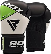 RDX Kickboxing Boxing Gloves Leather Punch Bag Glove Training UFC Sparring MMA