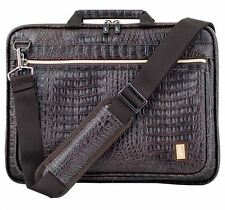 Laptop pouch bag Pattern of Crocodile memory foam Anti-shock Front pocket strap