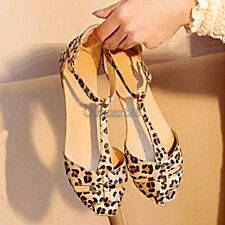 HOT SALE Summer Fashion Women's Sandals Shoes Leopard Flat Heel US 6,7,8 OK