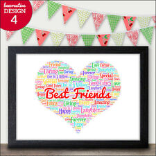 Best Friend Birthday Gifts - PERSONALISED Friendship Presents - Friends Gifts