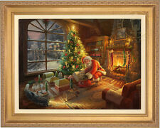 Thomas Kinkade Lionel Santa's Special Delivery 18 x 24 LE S/N Canvas Framed