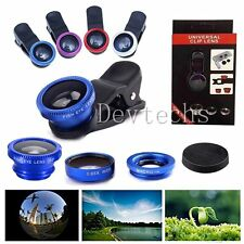 Universal 3in1 Fish Eye+Wide Angle+Macro Clip Lens for iPhone 6Plus Samsung S6