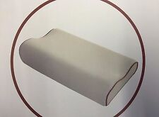 Luxury CONTOUR MEMORY FOAM PILLOW - Firm Head, Neck & Back Support, Zipped Cover