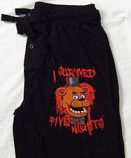 Mens Womens NEW Freddy's I Survived 5 Nights Pajama Lounge Sleep Pants S-L