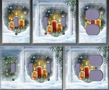 Christmas Lights In The Window Wall Decor Light Switch Plate Cover