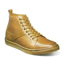 Stacy Adams Winchell Moc toe boot smooth leather Suede Antique Gold  53429-711