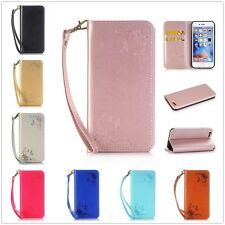 Luxury Rose Leather Magnetic Flip Stand Card Slot Wallet Case Cover For Samsung