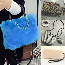 Women Handbag Synthesic Fur Shoulder Crossbody Tote Bag Plush Clutch Purse Lot