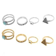 4PCS/ Set Silver Gold Stack Above Knuckle Band Vintage Rings Midi Finger Rings