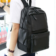 Men Women Backpack Vintage Leather Handbag Rucksack Shoulder School Travel Bags