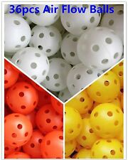Spicybuys 36pcs Air flow Hollow Plastic Practice ball for golf tennis training