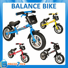 Kids Childrens Toddler First Balance Bike with Brakes Bicycle Red Blue