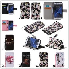 Cute Magnetic Flip Card Stand Leather Wallet Phone Case Cover For Samsung Galaxy