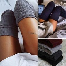 Women Cable Knit Extra Long Boot Socks Over Knee Thigh High Girl Stocking LM
