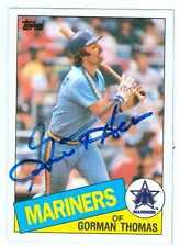 Gorman Thomas autographed Baseball Card (Seattle Mariners) 1985 Topps #202