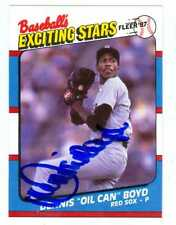 Dennis Oil Can Boyd autographed baseball card 1987 Fleer Exciting Stars #5