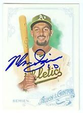 Marcus Semien autographed baseball card 2015 Topps Allen Ginters #60