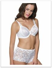 Ballet 'Celebration: Rose' Full cup Underwire Bra Soft Floral Lace White 14B/36B